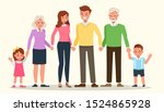 happy family people mother ... | Shutterstock .eps vector #1524865928