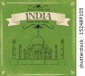 Vector Illustration Of Taj...
