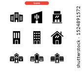 lodging icon isolated sign...   Shutterstock .eps vector #1524891572
