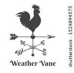 Rooster Weather Vane. Retro...