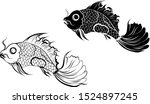 hand drawn and silhouette... | Shutterstock .eps vector #1524897245