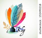 blog concept    Shutterstock .eps vector #152490218