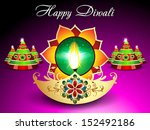 diwali background with sparkle... | Shutterstock .eps vector #152492186