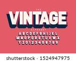 vector of stylized modern font... | Shutterstock .eps vector #1524947975