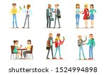 friends and colleagues spending ... | Shutterstock .eps vector #1524994898