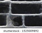black brick wall close up.... | Shutterstock . vector #1525009892
