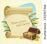 pirate treasure chest. vector... | Shutterstock .eps vector #152507366