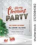 merry christmas party... | Shutterstock .eps vector #1525084382