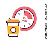 break time color line icon.... | Shutterstock .eps vector #1525095665