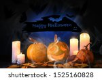 greeting card for halloween... | Shutterstock . vector #1525160828