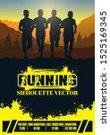 running silhouettes. vector... | Shutterstock .eps vector #1525169345
