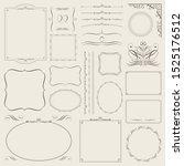 calligraphic decorative borders ... | Shutterstock .eps vector #1525176512
