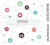 dating trendy web template with ... | Shutterstock .eps vector #1525178558