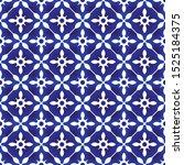ceramic thai pattern  blue and... | Shutterstock .eps vector #1525184375