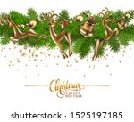 merry christmas and a happy new ... | Shutterstock .eps vector #1525197185