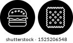 2 food icons sheet isolated on... | Shutterstock .eps vector #1525206548
