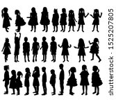 vector  isolated  silhouette of ... | Shutterstock .eps vector #1525207805