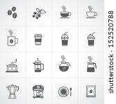coffee icons set vector  | Shutterstock .eps vector #152520788