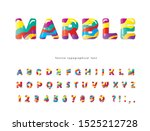 colorful artistic font. marble... | Shutterstock .eps vector #1525212728