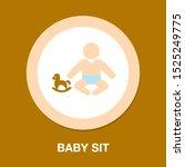 Vector Baby Sit Symbol  Child...