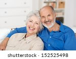 romantic senior couple sitting... | Shutterstock . vector #152525498