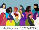 illustration of multi ethnic... | Shutterstock .eps vector #1525261745