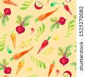 seamless watercolor pattern.... | Shutterstock . vector #1525270082