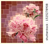 vector angular mosaic with... | Shutterstock .eps vector #1525278908