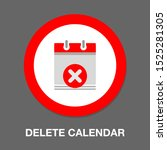 calendar date delete and close... | Shutterstock .eps vector #1525281305