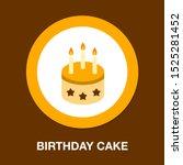 vector birthday cake... | Shutterstock .eps vector #1525281452