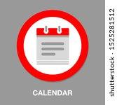 vector calendar date   date... | Shutterstock .eps vector #1525281512