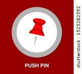 vector push pin illustration... | Shutterstock .eps vector #1525282592