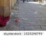 Homeless Or Beggar Sleep Or...