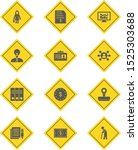 set of 12 business icons on... | Shutterstock .eps vector #1525303688