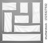 white textile advertising... | Shutterstock . vector #1525327532