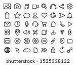 set of user interface icons.... | Shutterstock .eps vector #1525338122