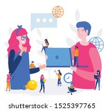 two business partners  human... | Shutterstock .eps vector #1525397765