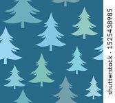 winter fir trees  christmas... | Shutterstock .eps vector #1525438985