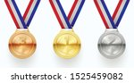 gold  silver and bronze medals... | Shutterstock .eps vector #1525459082