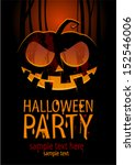 halloween party design template ... | Shutterstock .eps vector #152546006