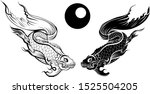 hand drawn and silhouette... | Shutterstock .eps vector #1525504205