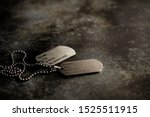 Blank Military Dog Tags On...