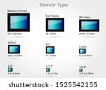 digital camera sensor format ... | Shutterstock .eps vector #1525542155