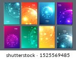 abstract technology data... | Shutterstock .eps vector #1525569485