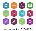 blogger circle icons on white...