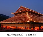 The Lights Of Chinese Temple