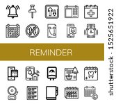 reminder icon set. collection...