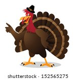 cartoon turkey points at your... | Shutterstock . vector #152565275