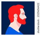 the head of a bearded man in... | Shutterstock .eps vector #1525656422