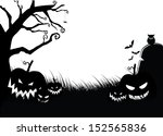 scary pumpkin halloween... | Shutterstock . vector #152565836